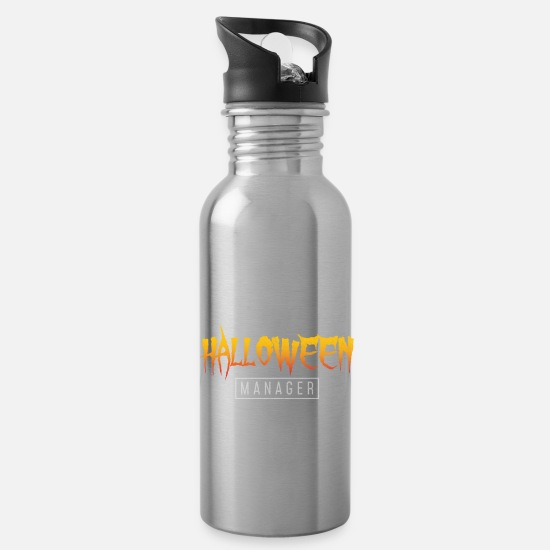 Horror Mugs & Drinkware - Halloween Manager - Limited Edition - Water Bottle silver