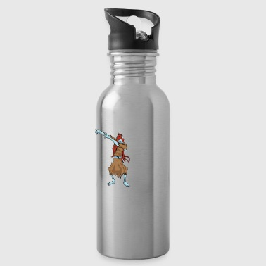 Move Funny Halloween Zombie Girl Dabbing For Candy. Trick or Treat Candy Lover Gift - Water Bottle