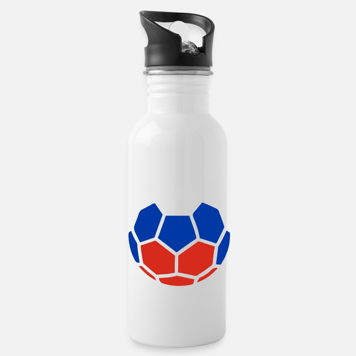 Geschenke Russland Weihnachten.Fußball Geschenk Russland Weihnachten Trinkflasche Weiß