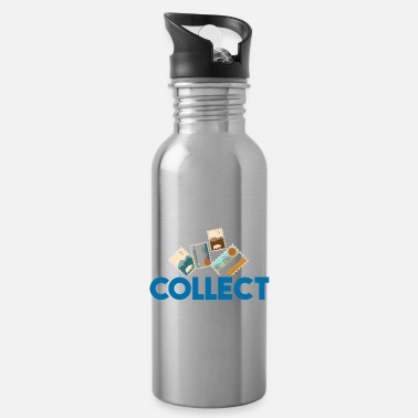 Stamp Collecting Collect stamps gift children - Water Bottle