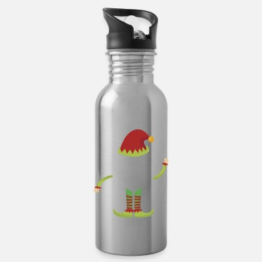 Santa I am the sarcastic elf Christmas gift - Water Bottle