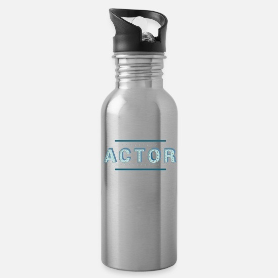 Birthday Mugs & Drinkware - Actor actress drama stage profession - Water Bottle silver