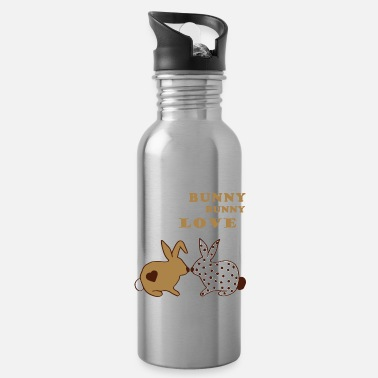 Lovely Everybunny needs somebunny to love - bunnies love - Water Bottle