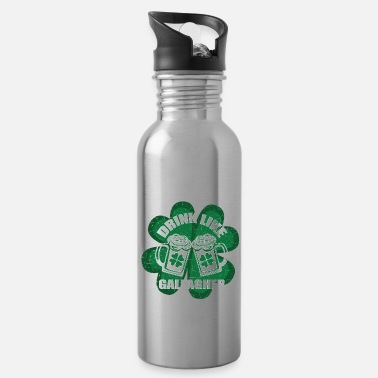 Cloverleaves Drink Like A Gallagher St. Patrick's Day Ireland - Water Bottle