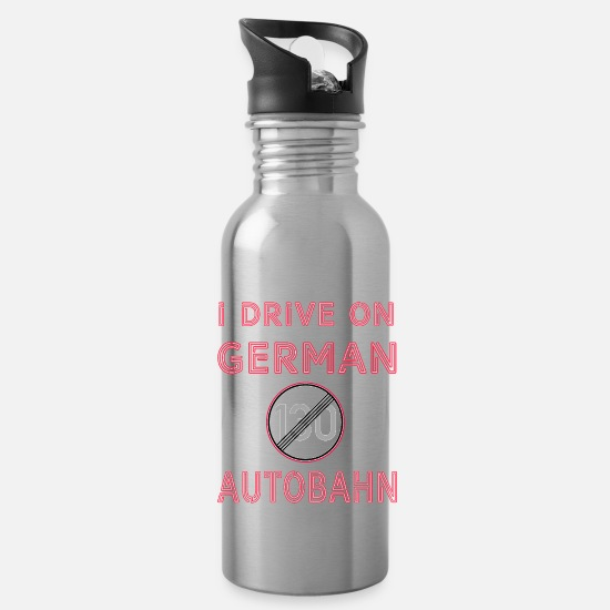 Birthday Mugs & Drinkware - German highway - Water Bottle silver