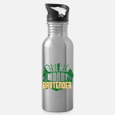 Happy Birthday Real men marry bartenders - Water Bottle