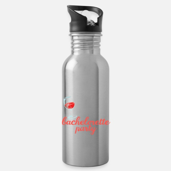 Single Mugs & Drinkware - Hen party JGA - Water Bottle silver