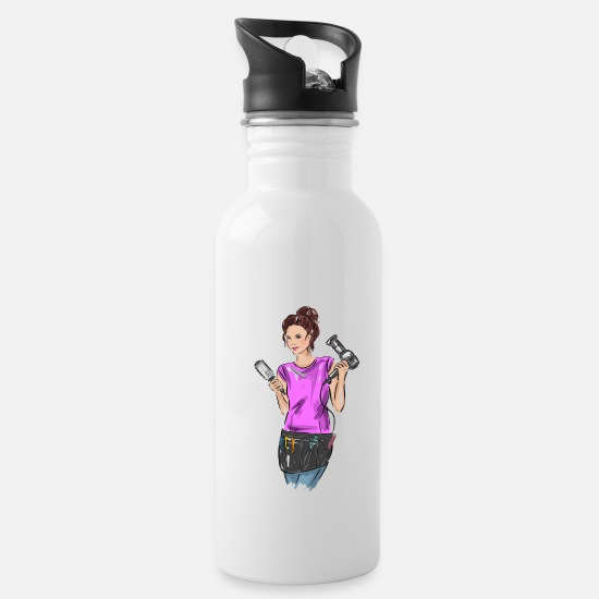 Birthday Mugs & Drinkware - hair stylist - Water Bottle white