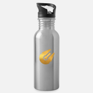 Space Ship Space Ship Golden - SciFi and Space Motives - Water Bottle