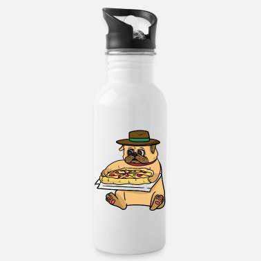 Italian Italian pug and Italian pizza - Water Bottle