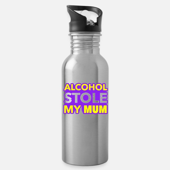 Alcohol Mugs & Drinkware - Anti Alcohol Alcohol dependent alcohol addiction - Water Bottle silver