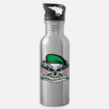 Soldier Of Fortune Soldier of Fortune | Skull Beret | Telescropes | Banner - Water Bottle