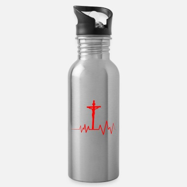 Christian Jesus Saved My Life Christian Jesus Lover Gift - Water Bottle