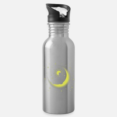 Philosophy Moon woman star nature person gift - Water Bottle