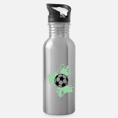 Ball Football watercolor green - Water Bottle