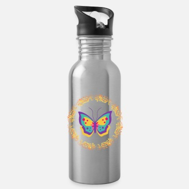 Bee Monarch Butterfly Awesome Design Pink - Water Bottle
