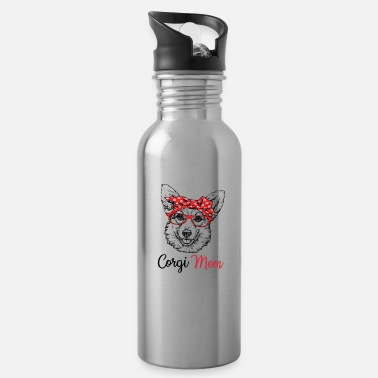 Glass Corgi - Water Bottle