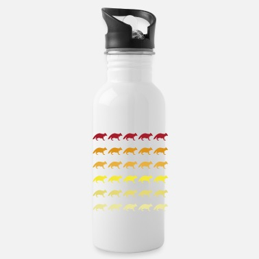 South America Raccoon retro and vintage pattern - Water Bottle