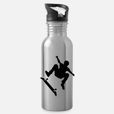 Skateboard Skateboarder on skateboard - Water Bottle