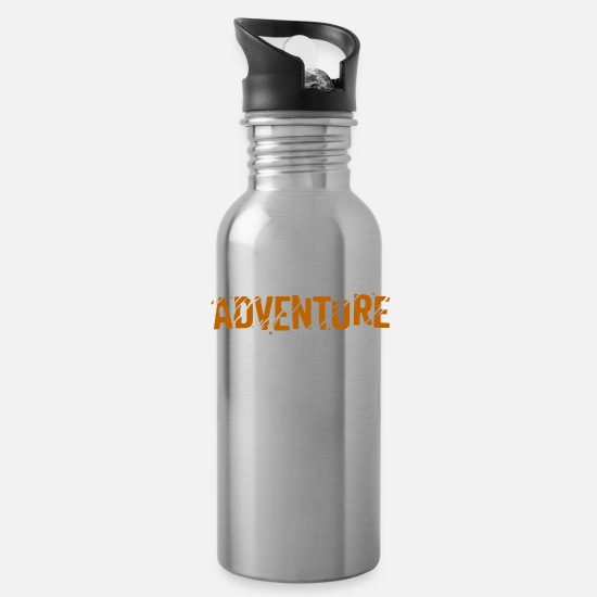 Outdoor Mugs & Drinkware - Adventure - Water Bottle silver