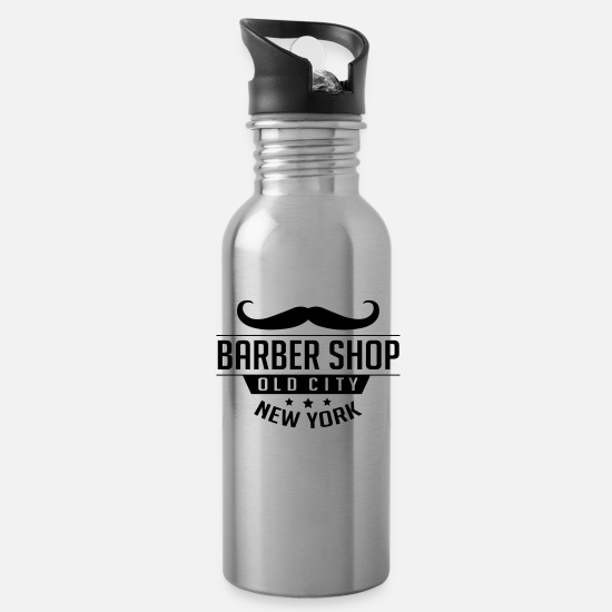Guys Night Out Mugs & Drinkware - Barber Shop Old City New York - Water Bottle silver