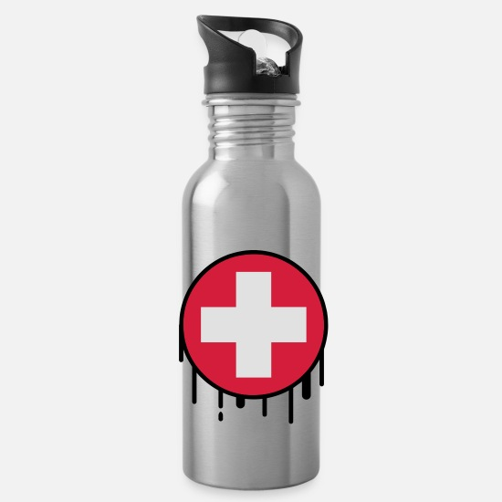 Flag Mugs & Drinkware - suisse17 - Water Bottle silver