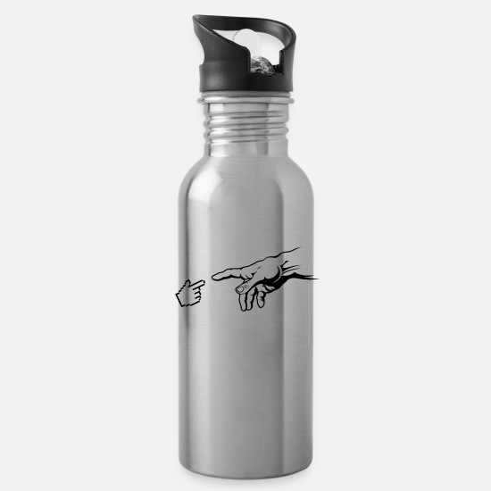 Art Mugs & Drinkware - Creation Of The Internet - Water Bottle silver