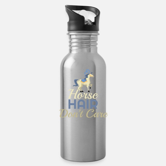 Haired Mugs & Drinkware - Horse Hair - Water Bottle silver