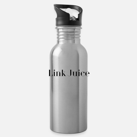 Quotes Mugs & Drinkware - quotes link juice love quotes - Water Bottle silver