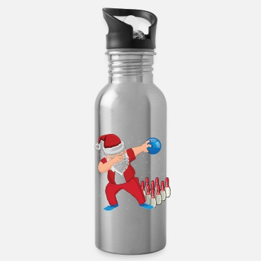 Mulled Wine Bowling Santa Claus Dab - Water Bottle