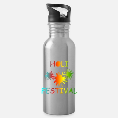 KEEP CALM, music, cool, Holi, festival - Water Bottle