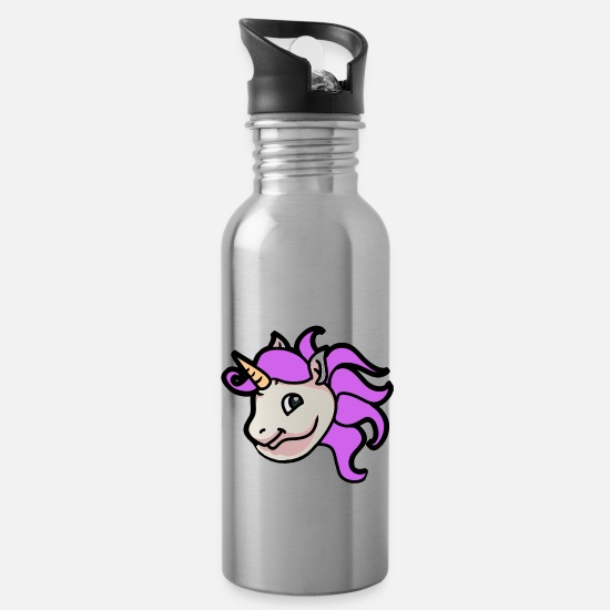 Birthday Mugs & Drinkware - Unicorn unicorns mythical creatures mythical creatures children - Water Bottle silver