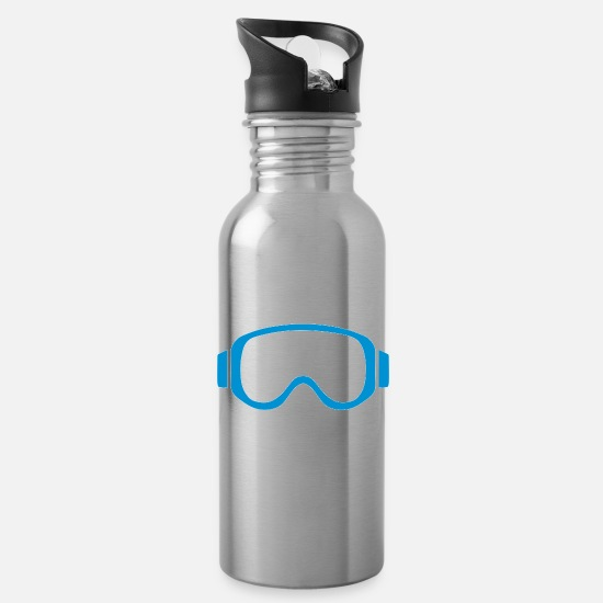 Ski Mugs & Drinkware - Ski goggles - Water Bottle silver