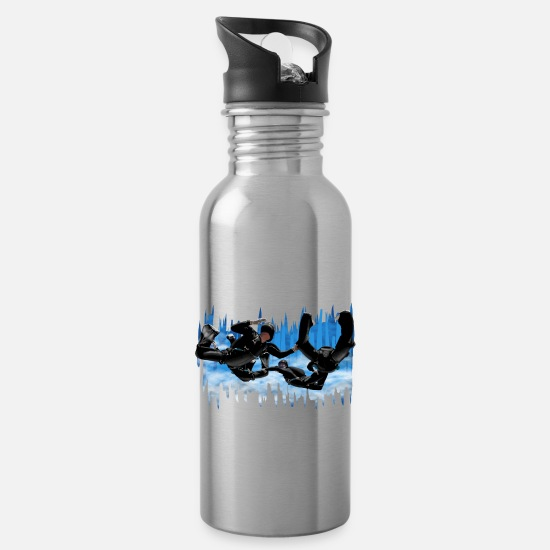 Skydiving Mugs & Drinkware - Skydivers - Water Bottle silver
