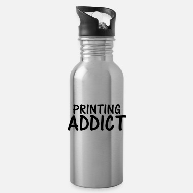 Print printing addict - Water Bottle