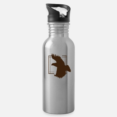 Bird Illustration Eagle - Eagle / Bird - Bird / Vulture - Vulture - Water Bottle