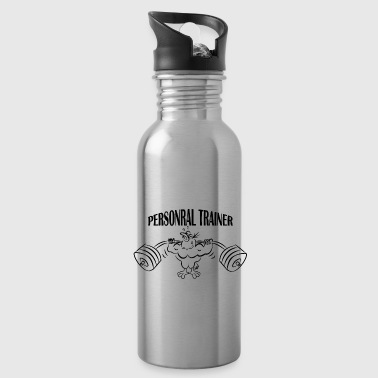 Personal Trainer Personal trainer chicken black - Water Bottle
