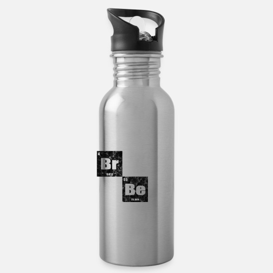 Rap Mugs & Drinkware - Break Beats Periodic Music Hip Hop Gift Idea - Water Bottle silver