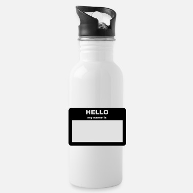 Tag Name tag - HELLO my name is - Water Bottle