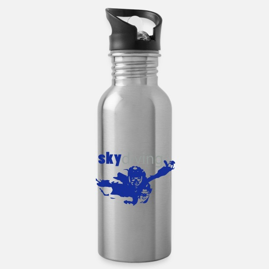 Parachute Mugs & Drinkware - skydive - Water Bottle silver
