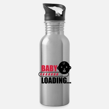 Funny Pregnancy baby loading - funny pregnancy - Water Bottle