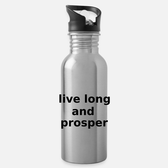 Star Mugs & Drinkware - Live Long and Prosper Science Fiction Cool Slogan - Water Bottle silver