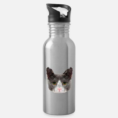 Triangle Cat - Water Bottle