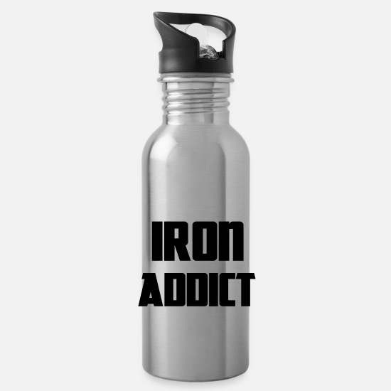 Body Building Mugs & Drinkware - Iron - Water Bottle silver