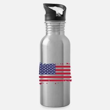 Patriot United States of America National Flag - brush dia - Trinkflasche