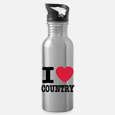 Country i love country / i heart country - Vattenflaska