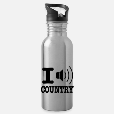 Country I music country / I love country - Vattenflaska