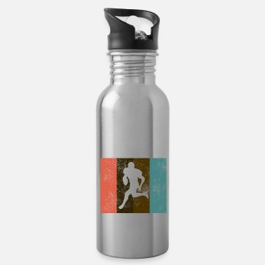 Down American football grunge vintage retro - Water Bottle
