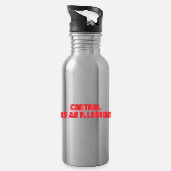 Tv Mugs & Drinkware - Control is an illusion - Water Bottle silver