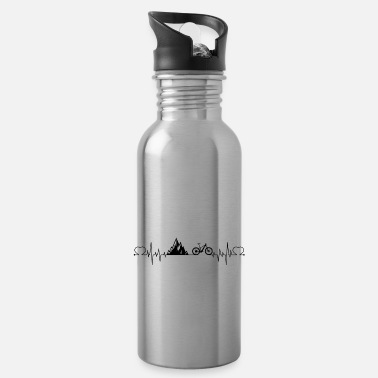 Bicyclette Heartbeat mountains bicycle - Water Bottle